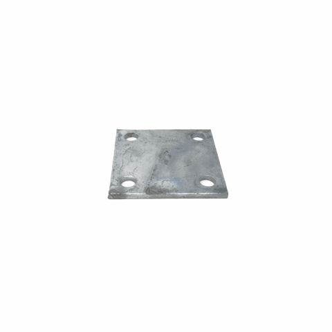 "Chain Link Fence Floor Flange - Galvanized Plates - 4"", 6"", and 8"" Square"