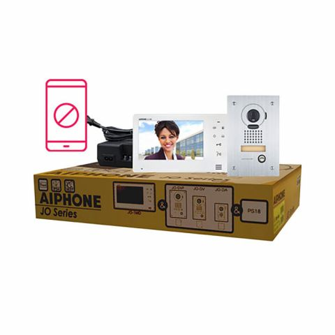 Aiphone Entry Security Video Intercom Box Set with Vandal Resistant, Flush-Mount Door Station