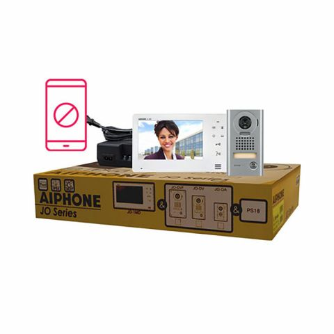 Aiphone Entry Security Video Intercom Box Set with Vandal Resistant, Surface-Mount Door Station