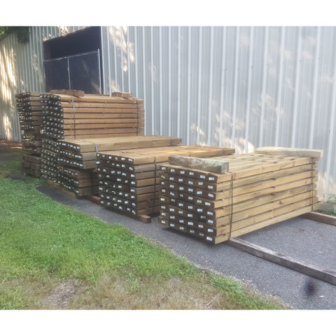West Virginia Lap Rail Posts - Lifetime Treated .40 ACQ Southern Yellow Pine