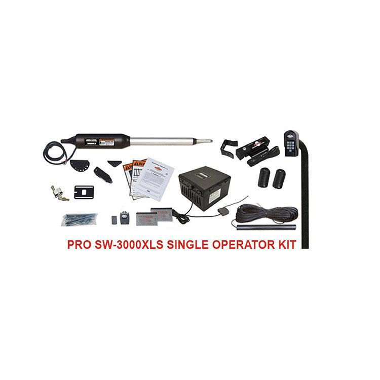 Linear PRO-SW3000XLS Automatic Gate Opener Kit for Single Swing Gates (650 lb capacity)