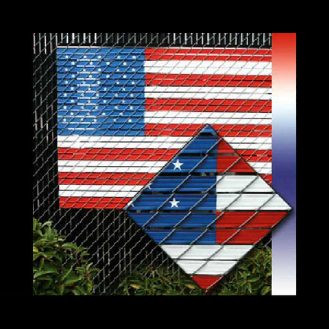 "Pexco American Flag Kit - 4' x 6' (fits 2"" Chain Link Mesh)"