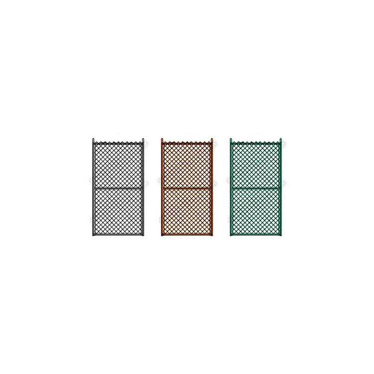 "Hoover Fence Commercial Chain Link Fence Single Gates, All 1-5/8"" Galvanized HF20 Frame - Black, Brown, and Green"