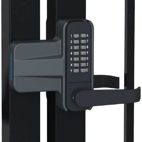 Nationwide Industries Keyless Gate Lock Kit for Vinyl and Metal Gates - Includes Lock and Adapter