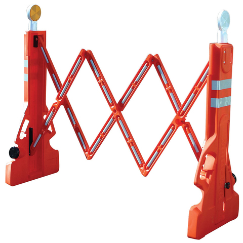 MLR Multi-Gate Expandable Plastic Barricade - Fluorescent Orange