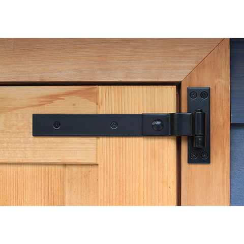 Snug Cottage Hardware Contemporary Cranked Band Hinges for Wood Gates - 316 Stainless Steel, Pair