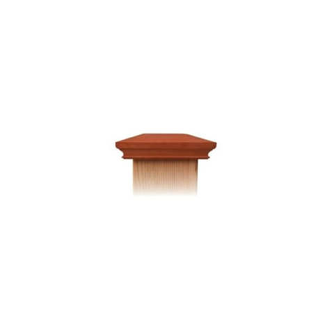 Nationwide Industries New England Style Miter-less Wood Post Caps - Mahogany