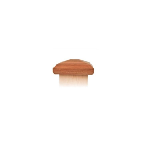 Nationwide Industries Pyramid Style Miter-less Wood Post Caps - Mahogany