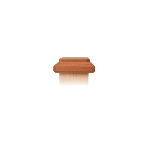 Nationwide Industries Traditional Style Miter-less Wood Post Caps - Mahogany