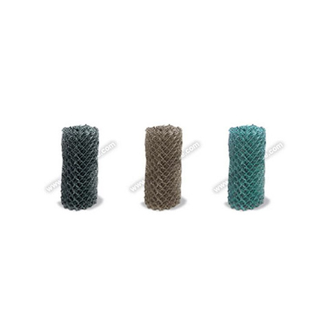 """9 Gauge x 2"""" Chain Link Fence Fabric - Black, Brown, and Green"""