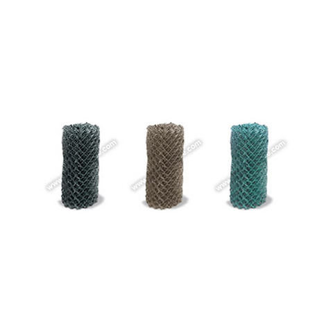 """8ga. Class 2B (9ga. Core) x 2"""" Chain Link Fence Fabric - Fused and Bonded - Black, Brown, and Green"""