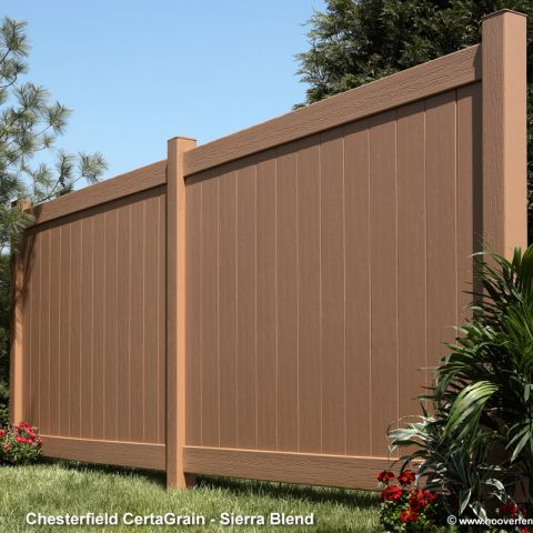 Bufftech Chesterfield CertaGrain Vinyl Fence Panels