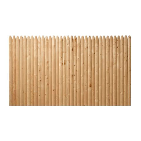 Solid Stockade Wood Fence Panels - Straight Top - Spruce