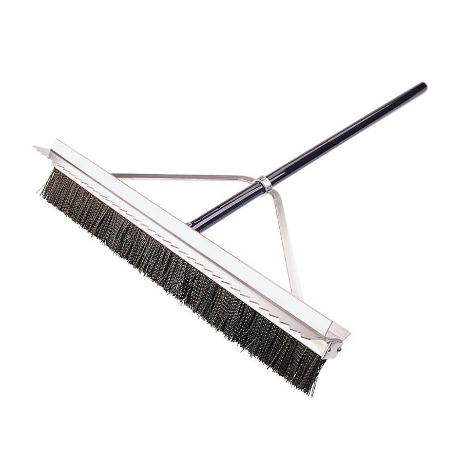 Double Play Finishing Broom With Scarifier Teeth 28""