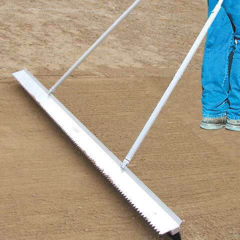 White Line Equipment Double Play Drag Broom 7' Wide With Scarifier Teeth