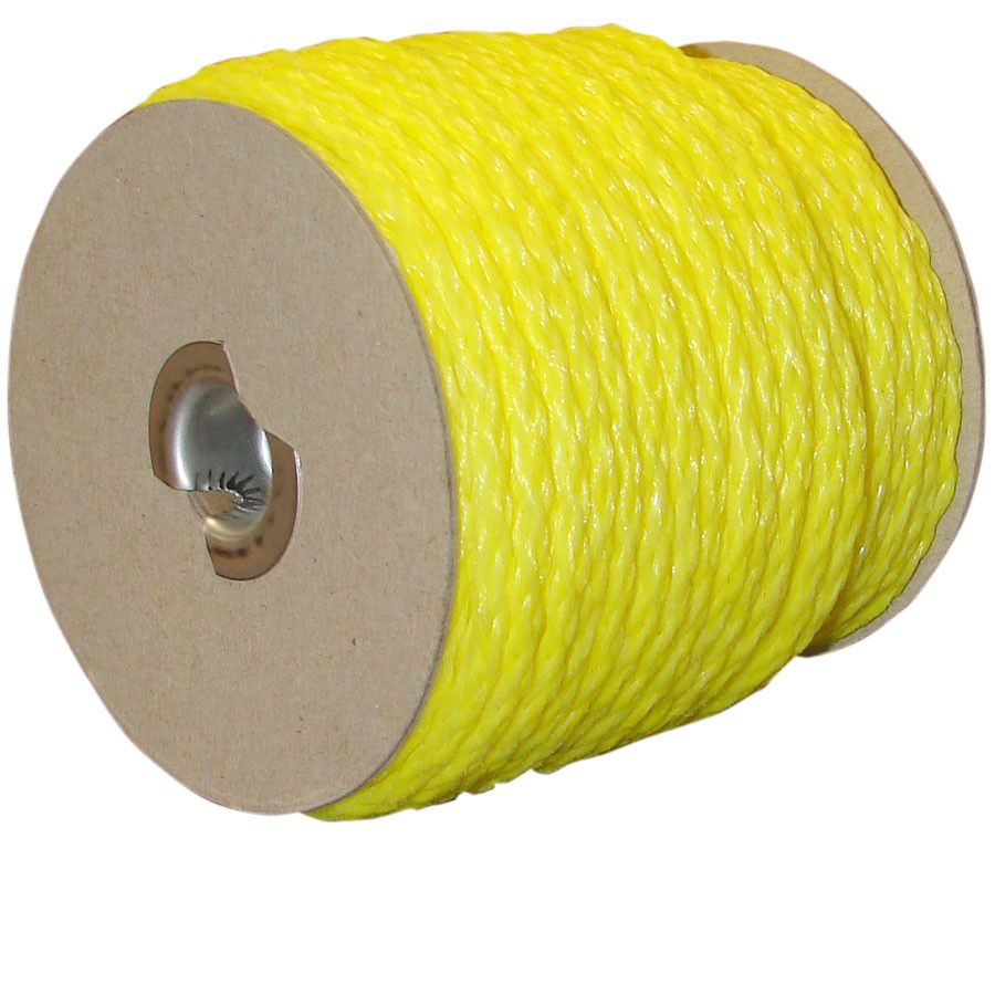 "Anti-Sag Fence Rope - 3/8"" diameter x 170' long, yellow"