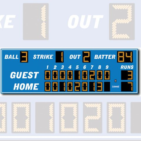 Electro-Mech Outdoor Baseball/Softball Scoreboard Model LX1130 - Specify Colors - Ship Quote Required