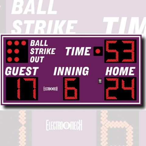 Electro-Mech Outdoor Baseball/Softball Scoreboard Model LX1340 - Specify Colors - Ship Quote Required
