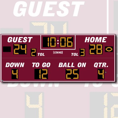 Electro-Mech Outdoor Football Scoreboard Model LX3680