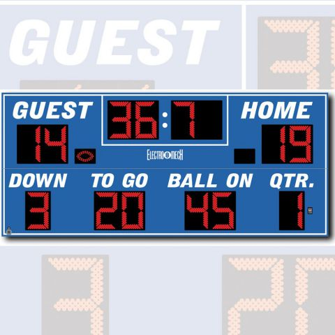 Electro-Mech Outdoor Football Scoreboard Model LX3340