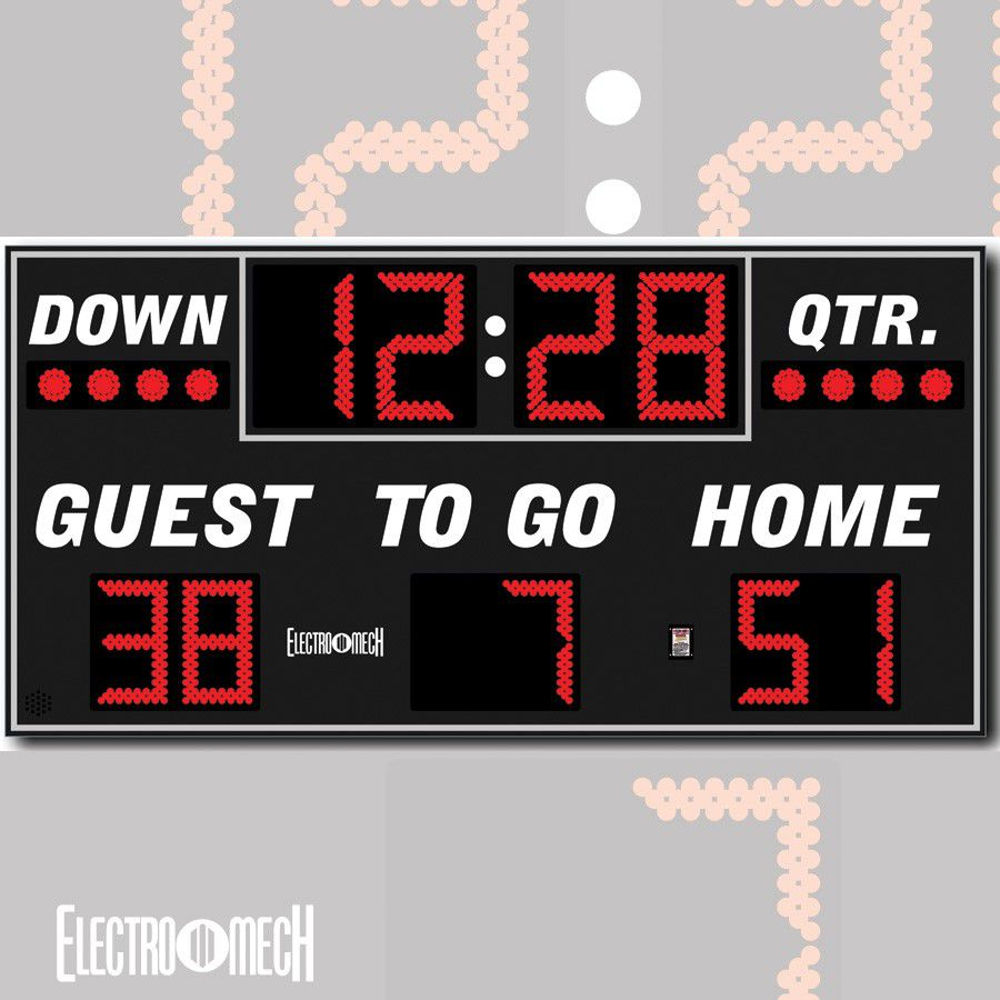 Electro-Mech Outdoor Football Scoreboard Model LX3150 - Specify Colors - Ship Quote Required