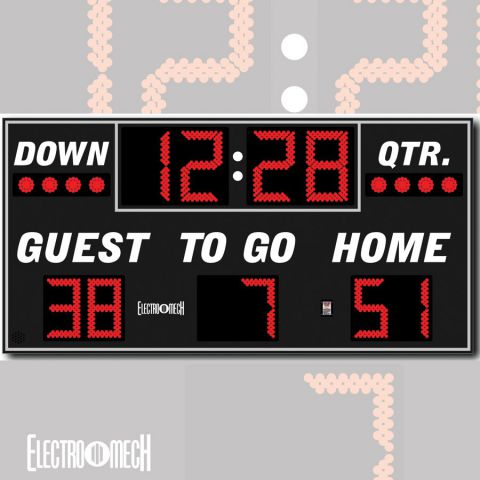 Electro-Mech Outdoor Football Scoreboard Model LX3150
