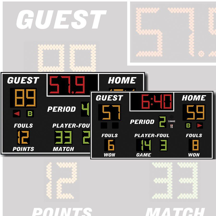 Electro-Mech Indoor Basketball/Volleyball/Wrestling Scoreboard Model LX2655