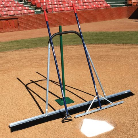 Field Prep Package - Rake, Tamp, Hoe, Shovel, Pro Broom