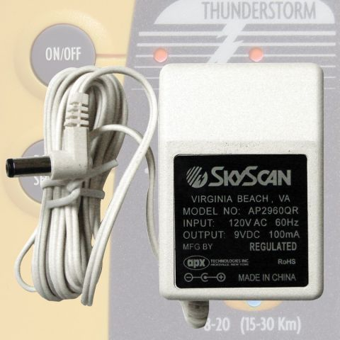 110V AC Plug-in Adapter for Sky Scan Lightning Detector