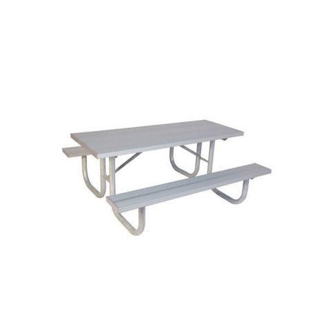 Heavy-Duty Picnic Table - Galvanized Frame