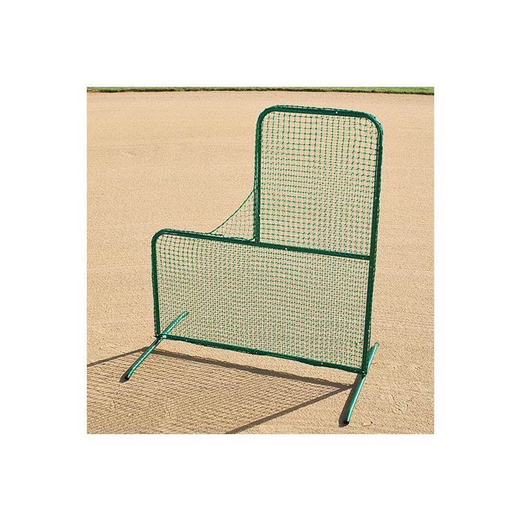 Pitcher's L-Shape Protective Screen with Pullover Net