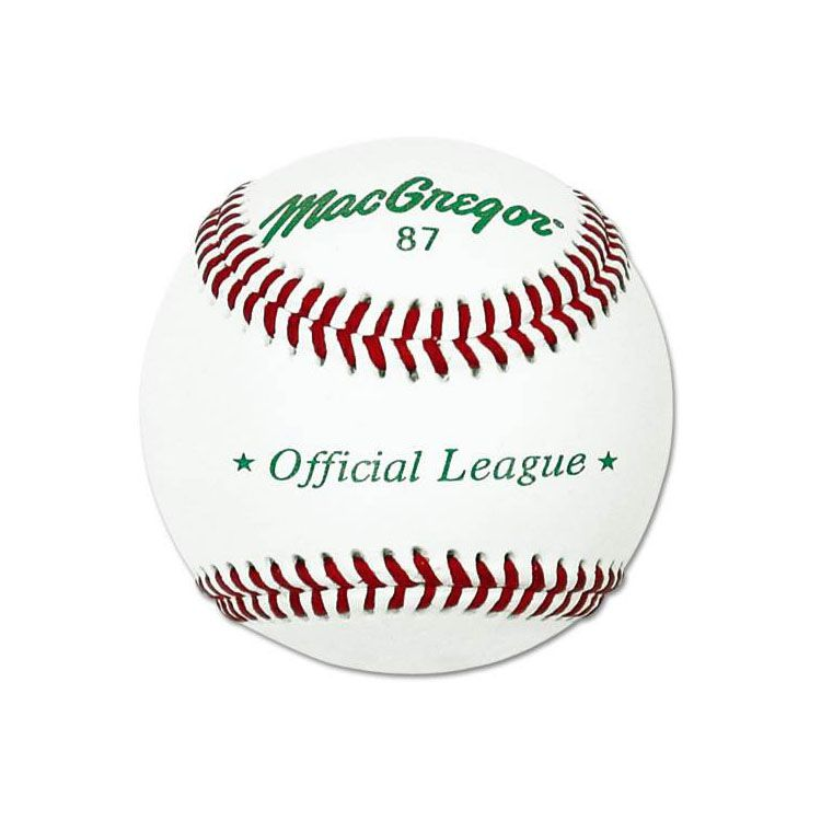 MacGregor #87 Official Split Leather Baseball - Dozen
