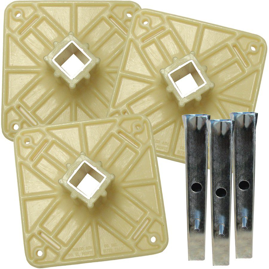Bolco Plastic Anchor Top Plate Set