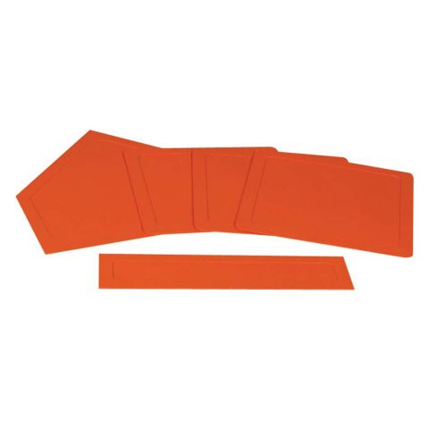 Champro Rubber Throwdown Bases - Orange - Set of 5