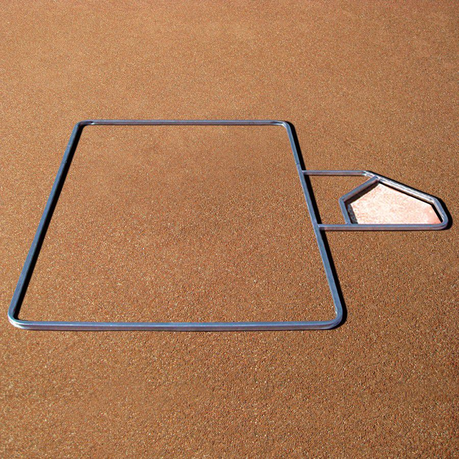 Adjustable Batter's Box Template - For Official Baseball, Little League, and Softball