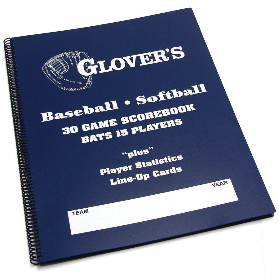 Glover's Scorebooks Baseball and Softball Scorebook Long Form - Blue