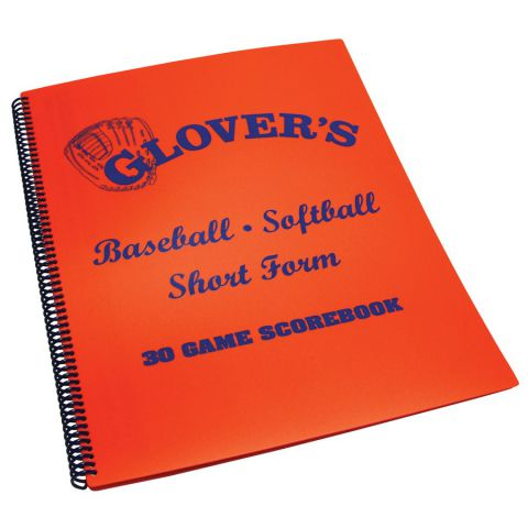 Glover's Scorebooks Baseball and Softball Short Form Scorebook - Orange