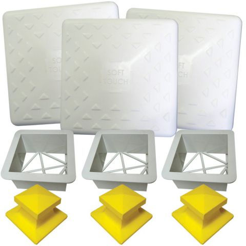 AFP Soft Touch Base Set - Set of 3 with Ground Mounts