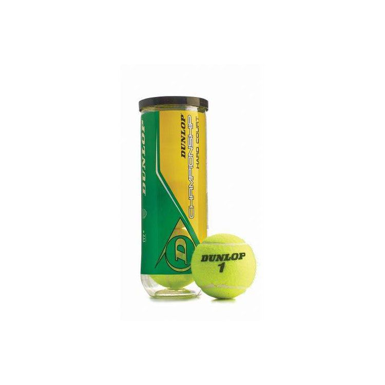 Dunlop Championship Tennis Balls - Case of 72 Balls - 24 Cans of 3