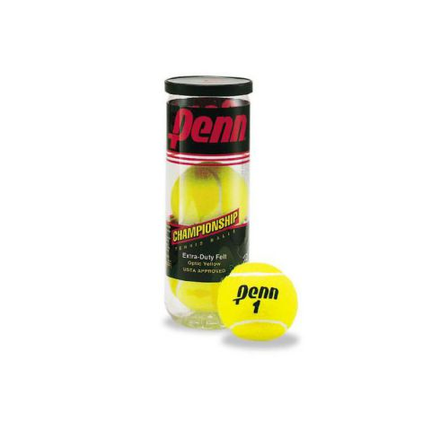 Penn 1 Championship Tennis Balls - Case of 72 Balls - 24 Cans of 3