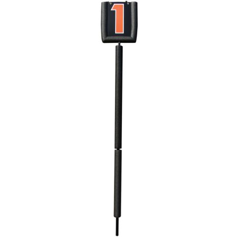 Pro Padded Flip-Down Indicator - Black/Orange Letters