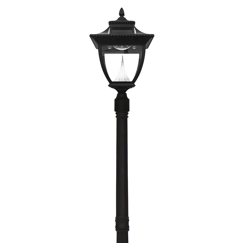Gama Sonic Pagoda Solar Lamp Post Single Black