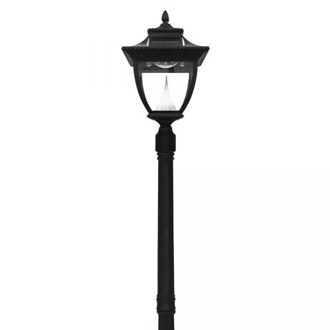 Gama Sonic Pagoda Solar Lamp Post - Single - Black