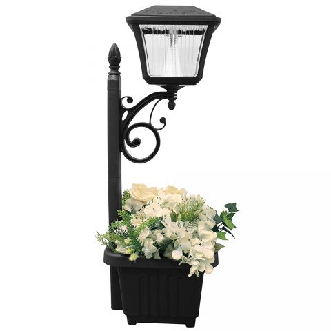 Gama Sonic Plantern Solar Path Light with Planter