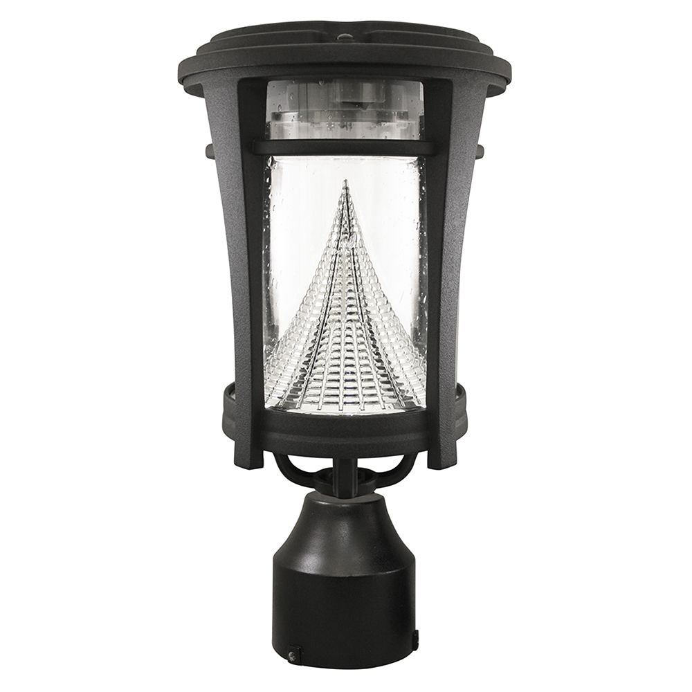"Gama Sonic Aurora Solar Light - Wall/Pier/3"" Fitter Mounts - Black"