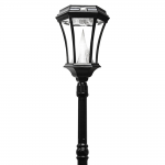 Gama Sonic Victorian Solar Lamp Post - Single - Black (94001)