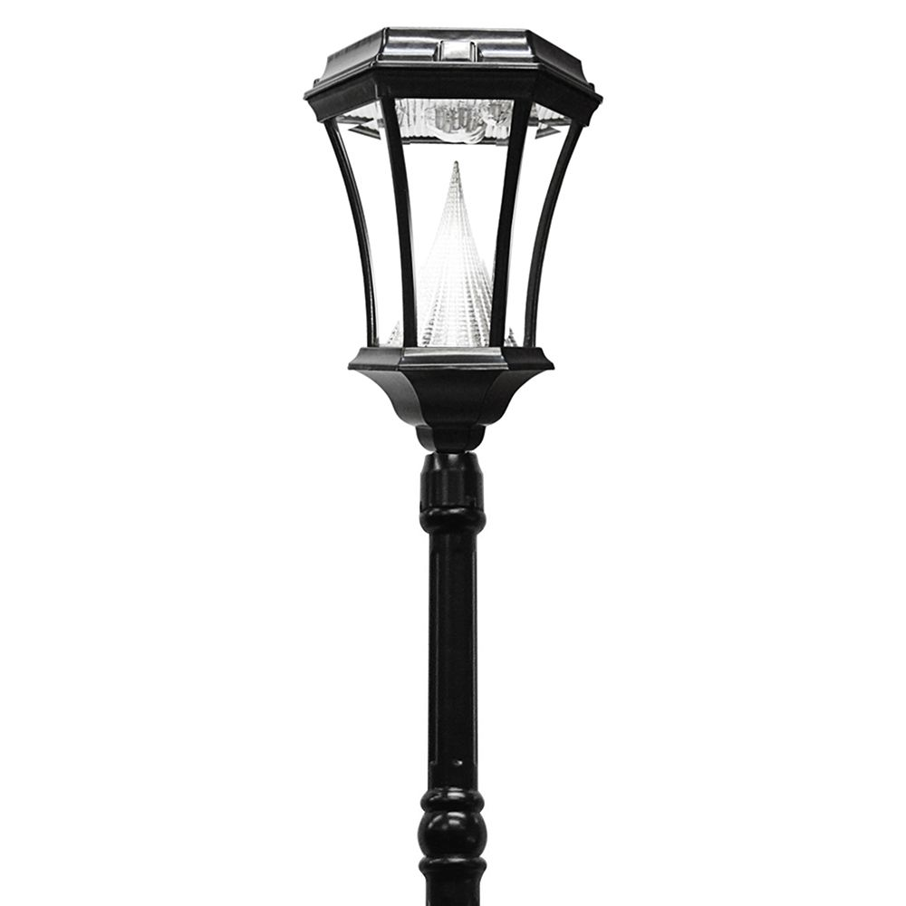 Gama Sonic Victorian Solar Lamp Post - Single - Black