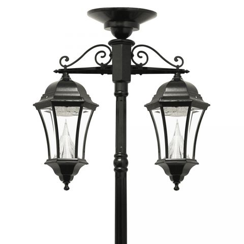 Gama Sonic Victorian Solar Lamp Post - Double Downward Lamps