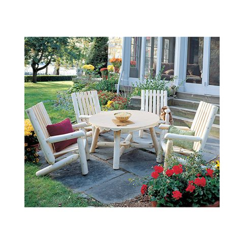 Rustic Cedar Furniture High Back Table Group - 5 pieces