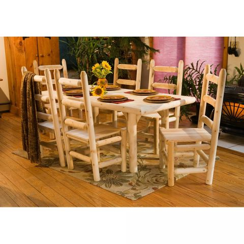 Rustic Cedar Furniture Ladder Back Chair Dining Group
